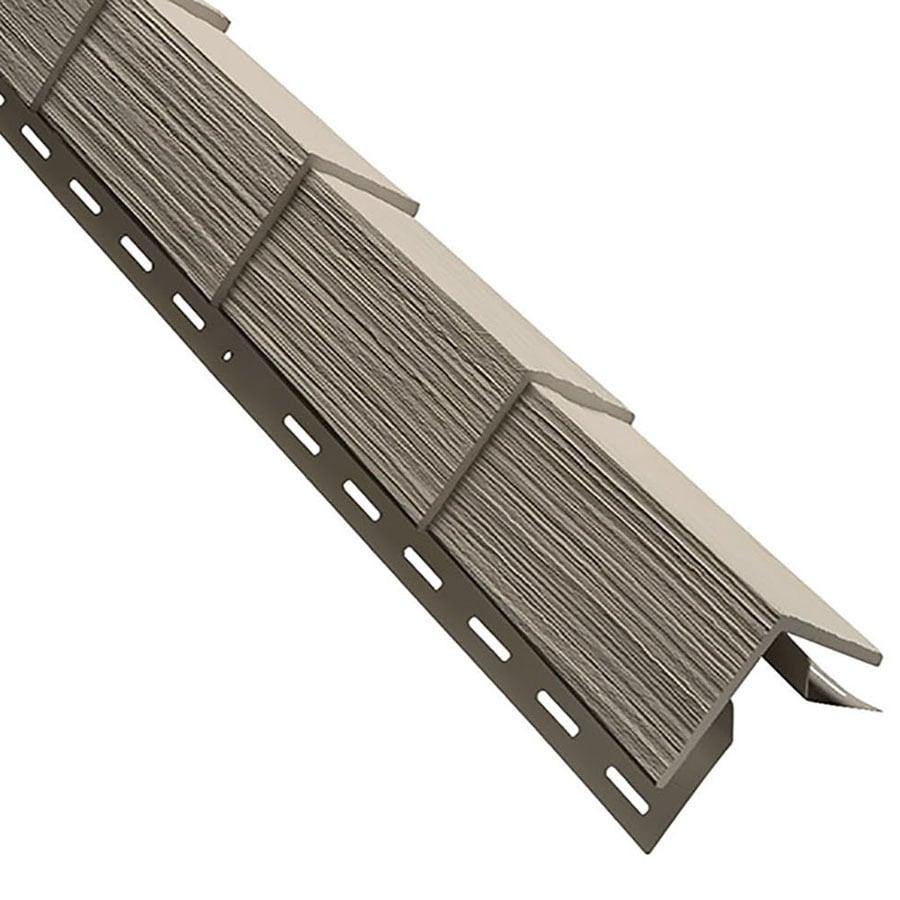 Durabuilt Shake Woodgrain Clay Vinyl Siding Panel 5-in x 28.125-in