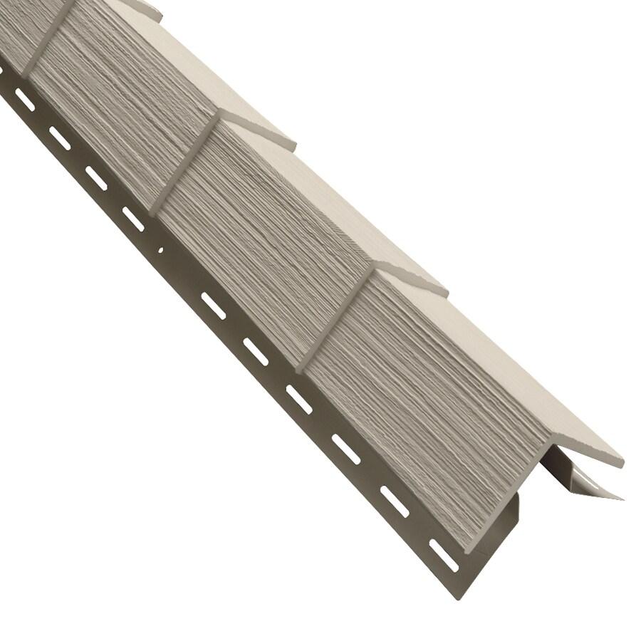Durabuilt Shake Woodgrain Tan Vinyl Siding Panel 5-in x 28.125-in