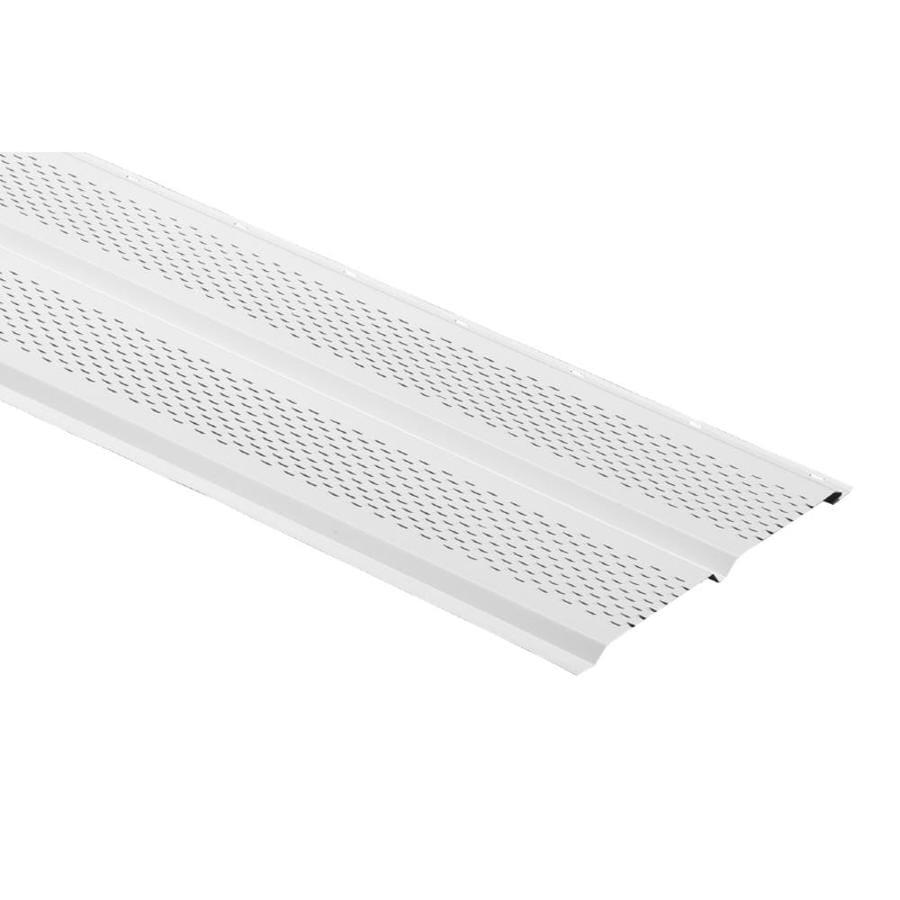 Durabuilt 12-in x 144-in 160 White Aluminum Solid Soffit