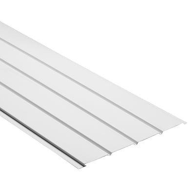 Durabuilt 16-in x 144-in 140 White Aluminum Solid Soffit at