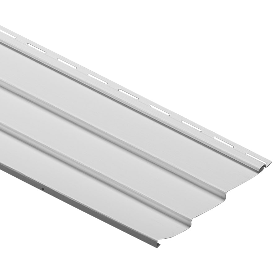 Durabuilt 10.28-in x 145-in White Traditional Vinyl Siding Panel