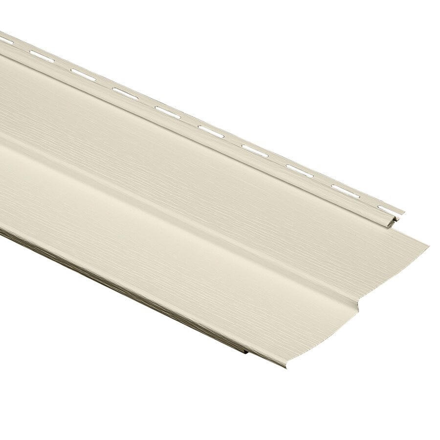 Durabuilt 9.34-in x 150-in Cream Traditional Vinyl Siding Panel