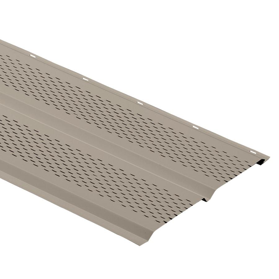 Durabuilt 12-in x 144-in 162 Clay Aluminum Vented Soffit