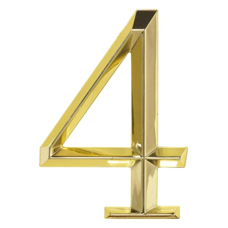 Whitehall 6-in x 4-in Polished Brass Number 4