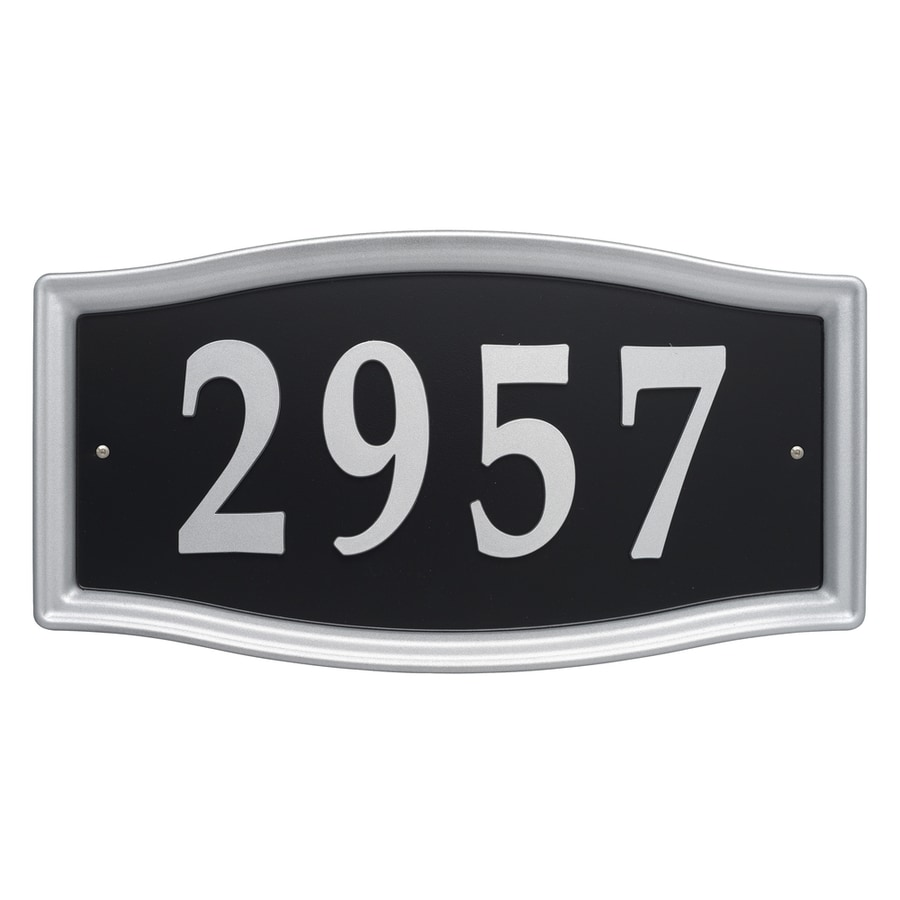 House Letters Lowes Shop Whitehall 825 In Satin Nickel House Number Home