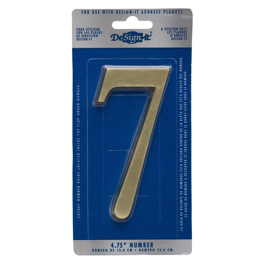 DeSign-it 5-in Polished Brass House Number 7