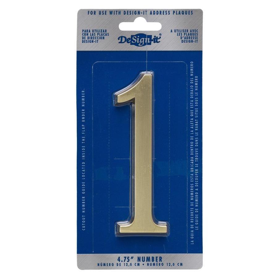 DeSign-it 5-in Satin Nickel House Number #1