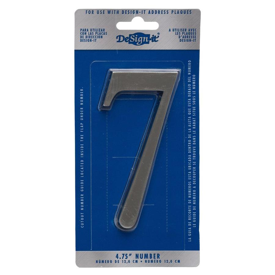 DeSign-it 5-in Satin Nickel House Number 7