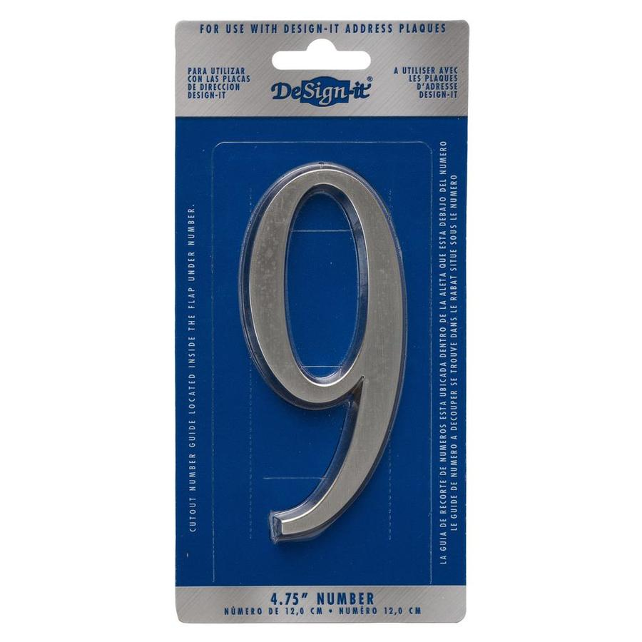 DeSign-it 5-in Satin Nickel House Number