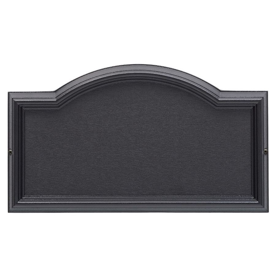 Design it black die cast metal address plaque