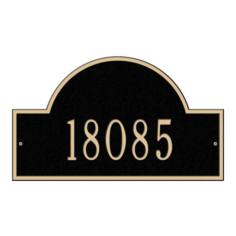 Whitehall 13-in Black House Number