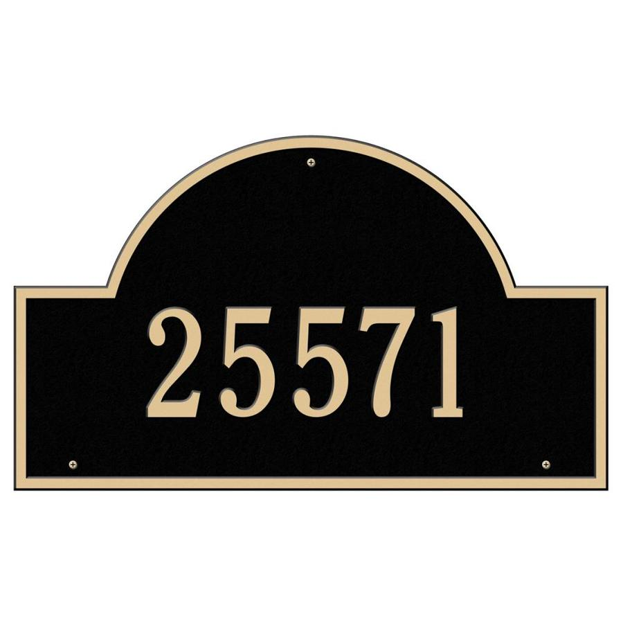 Whitehall 24-in Black House Number