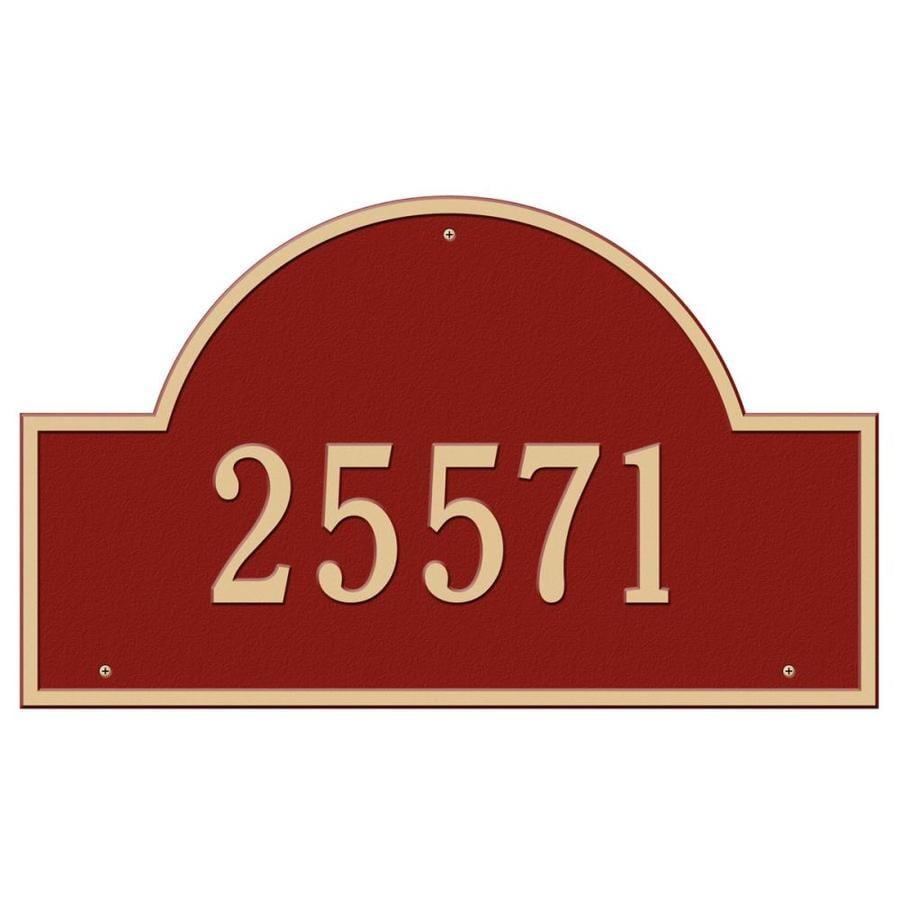 Whitehall Estate Arch Marker Red/Gold
