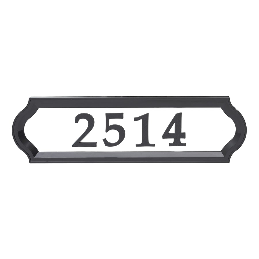Display product reviews for 16 in reflective black house number