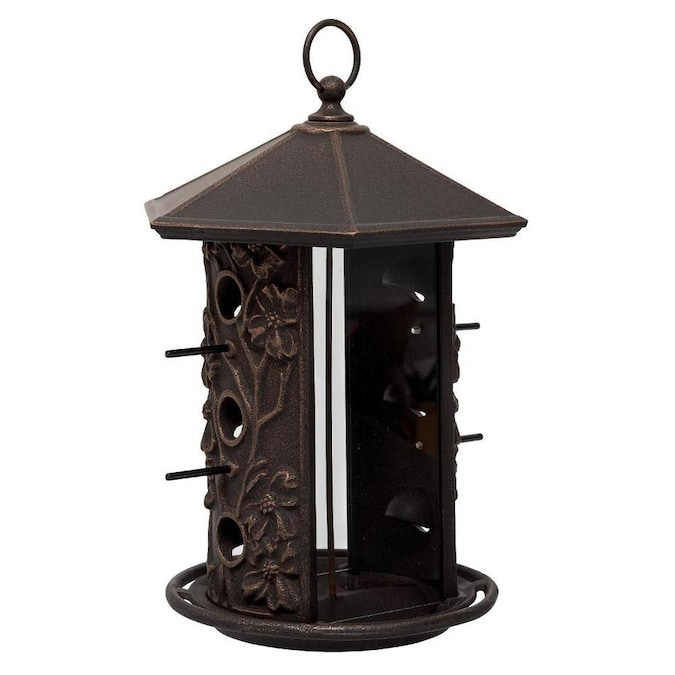 Whitehall Oil Rubbed Bronze Metal Tube Bird Feeder In The Bird Feeders Department At Lowes Com