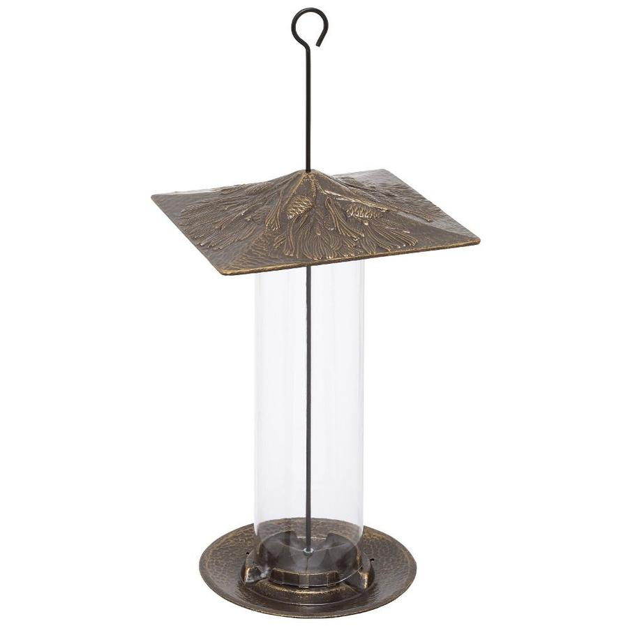 Whitehall French Bronze Metal Tube Bird Feeder