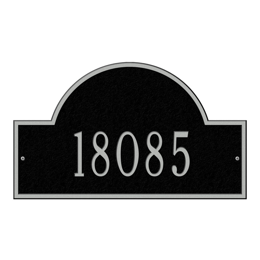 Whitehall 9.25-in Black House Number