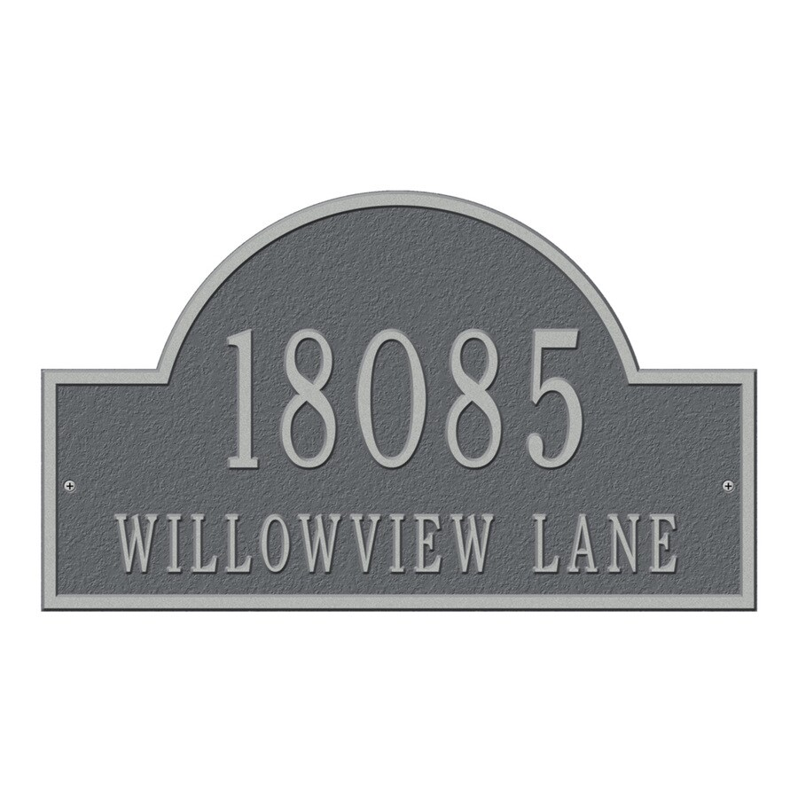 Whitehall 9.25-in Pewter House Number