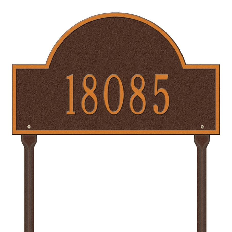 Whitehall 15-in Aged Copper House Number