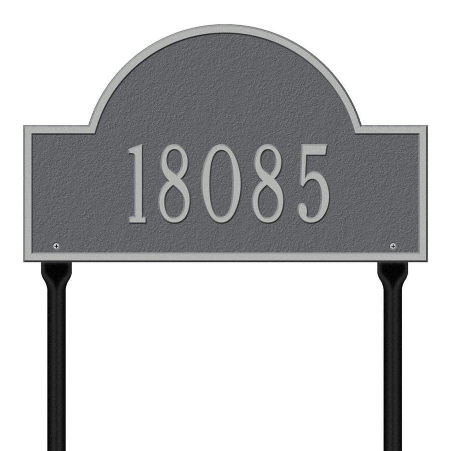 Whitehall 15-in Pewter House Number