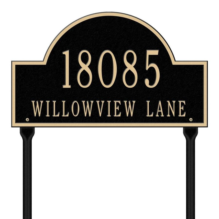 Whitehall 15-in Black House Number