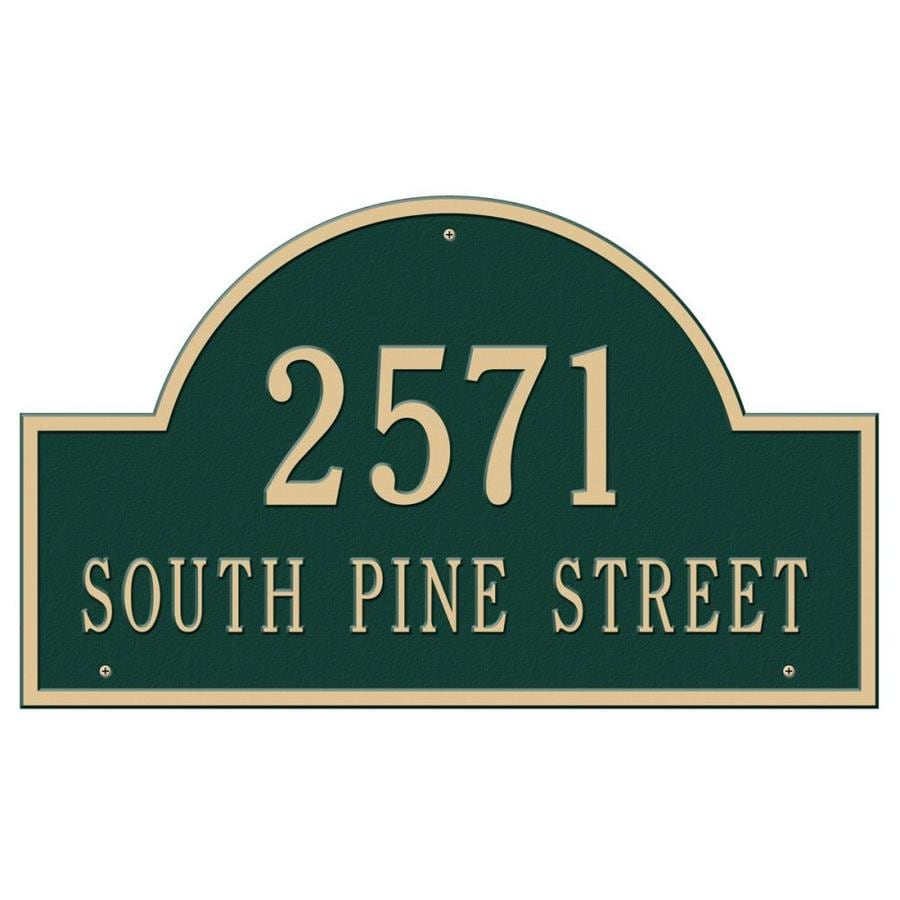 Whitehall Estate Arch Marker Green/Gold