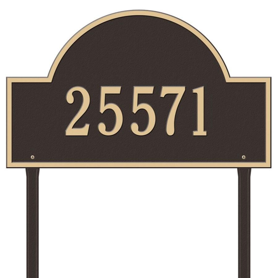 Whitehall 24-in Aged Bronze House Number