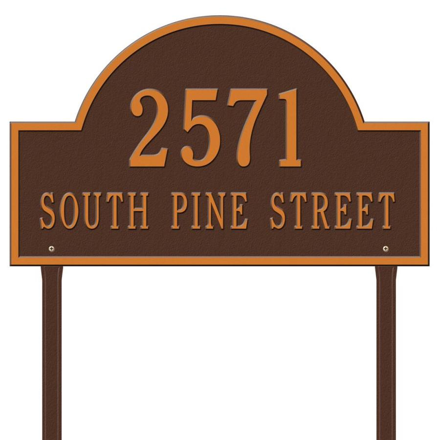 Whitehall 24-in Aged Copper House Number