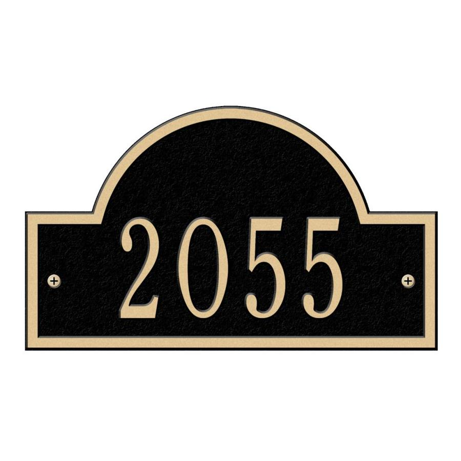 Whitehall 4.75-in Black House Number