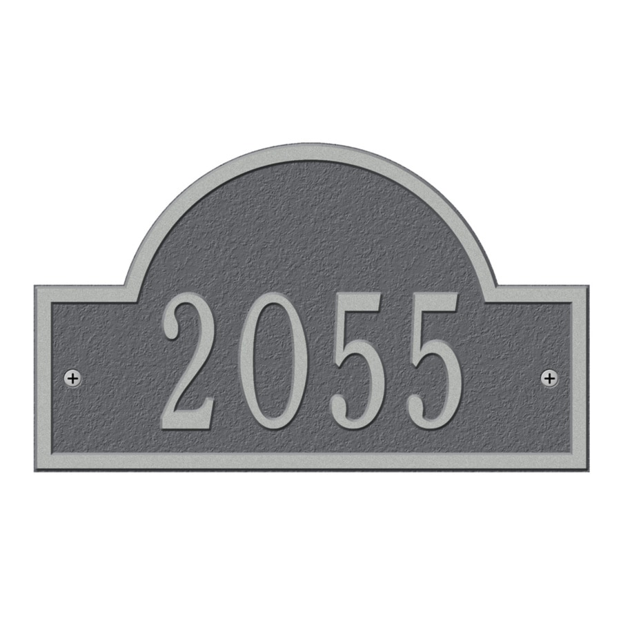 Whitehall 13-in Pewter House Number