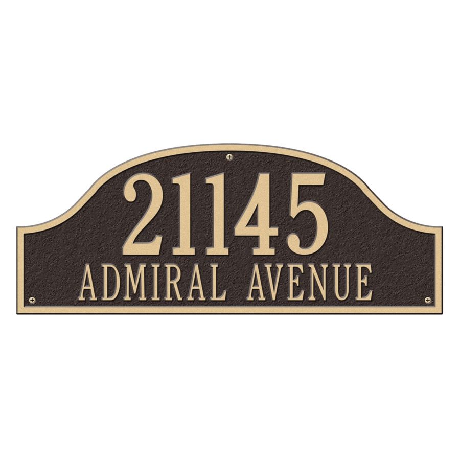 Whitehall 9.5-in x 23.75-in Admiral Estate Wall Two Line Bronze/Gold Plaque