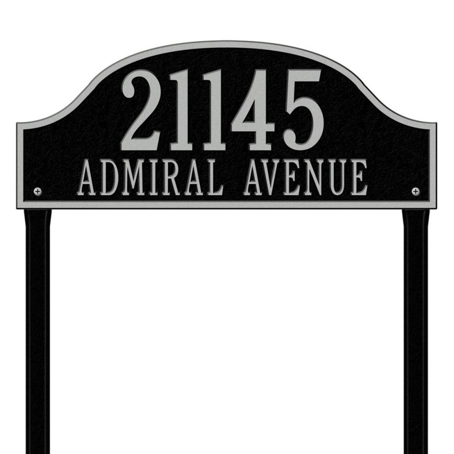 Whitehall 26.5-in x 23.75-in Admiral Estate Lawn Two Line Black/Sliver Plaque
