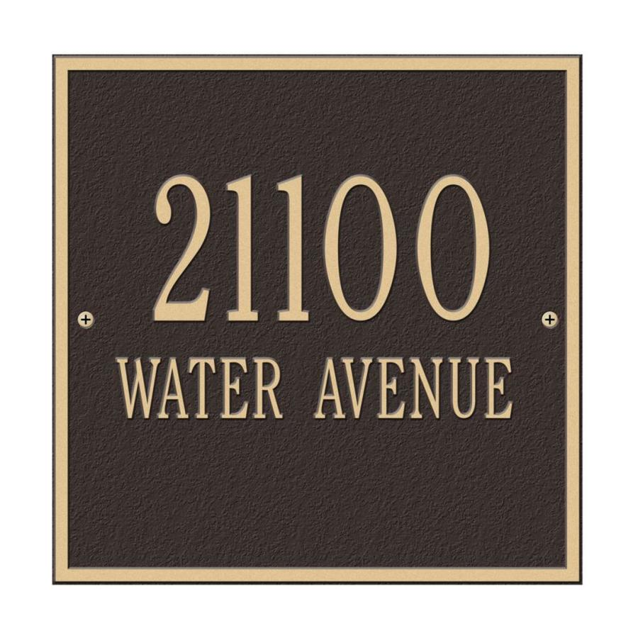 Whitehall 11-in x 11-in Square Standard Wall Two Line Bronze/Gold Plaque