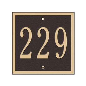 a2e1fe03e4f Whitehall 6-in H x 6-in W Bronze Gold Aluminum Address Plaque
