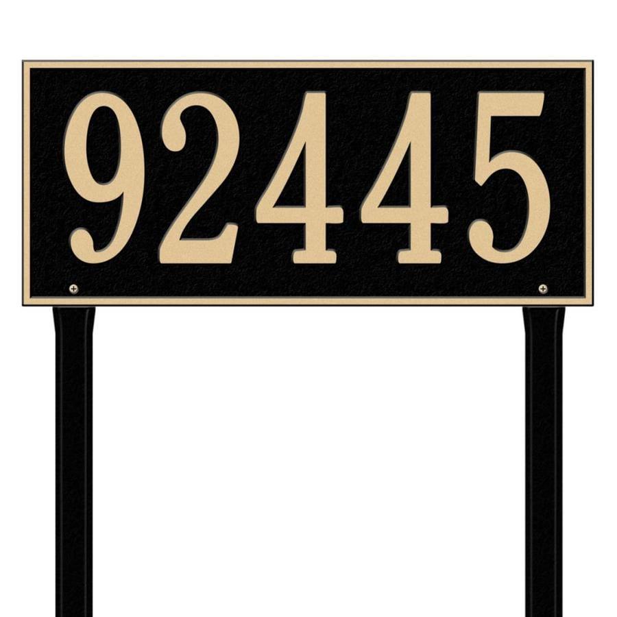 Whitehall 27-in x 23.25-in Hartford Estate Lawn One Line Black/Gold Plaque