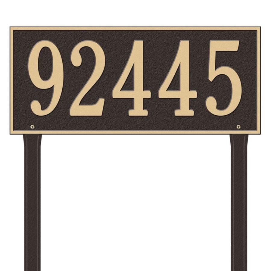 Whitehall 27-in x 23.25-in Hartford Estate Lawn One Line Bronze/Gold Plaque