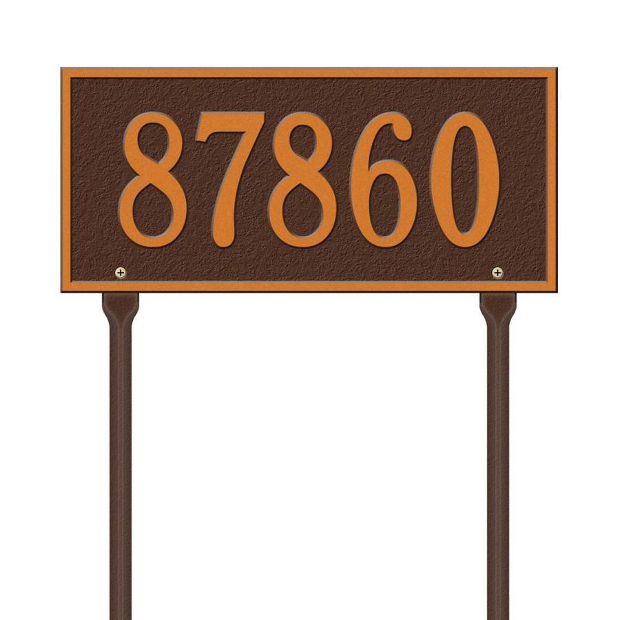 Whitehall 7.25-in x 16-in Whitehall Products Hartford Standard Lawn One Line Antique Copper Plaque