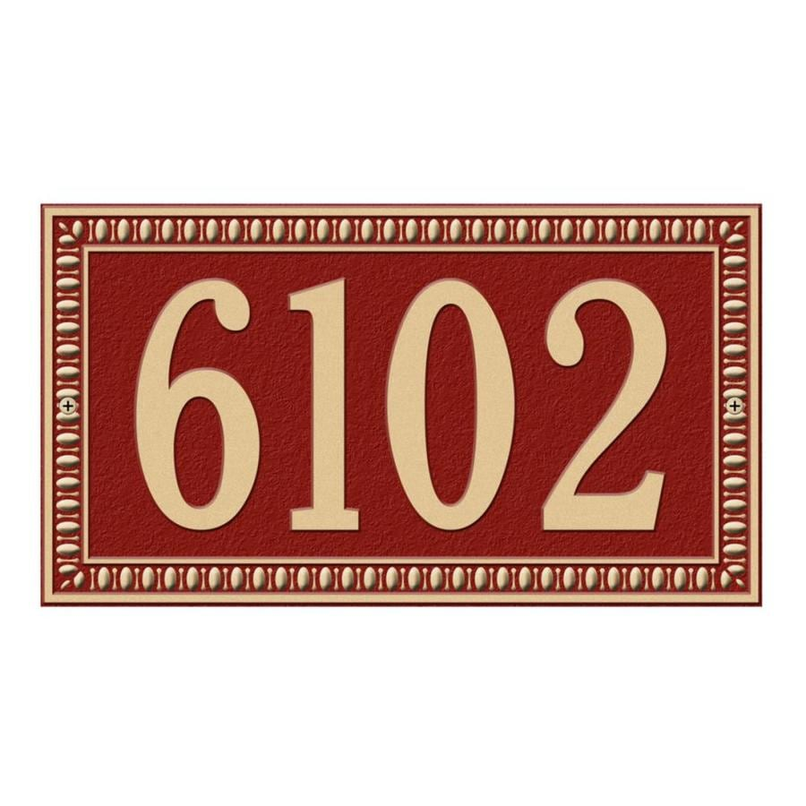 Whitehall 7.25-in x 13-in Egg and Dart Standard Wall One Line Red/Gold Plaque