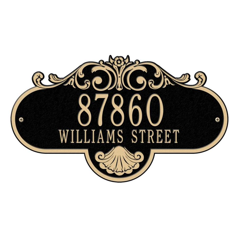 Whitehall 10.25-in Black House Number
