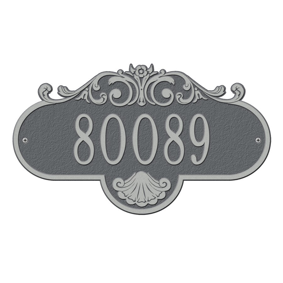 Whitehall 9-in Pewter House Number
