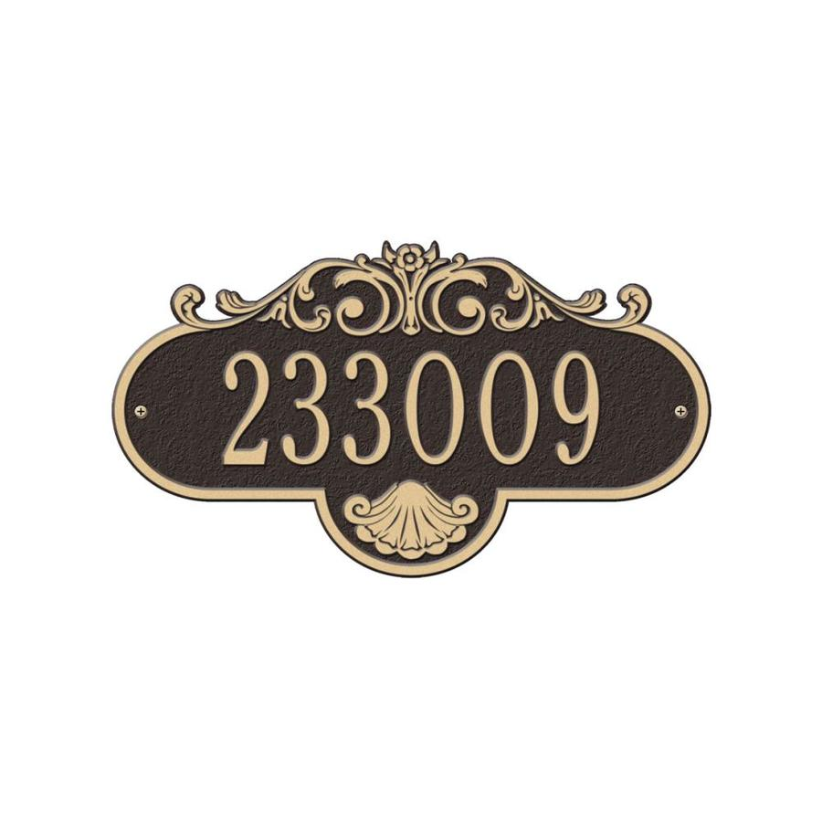 Whitehall 4.5-in Aged Bronze House Number