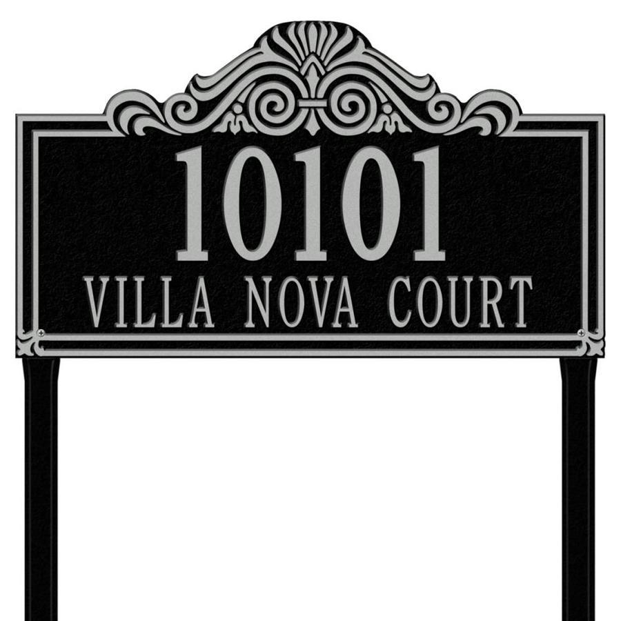 Whitehall 30.5-in x 23.5-in Villa Nova Estate Lawn Two Line Black/Sliver Plaque