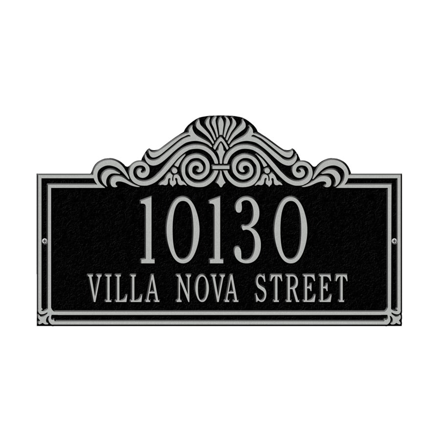 Whitehall 9.5-in x 16.5-in Villa Nova Standard Wall Two Line Black/Sliver Plaque