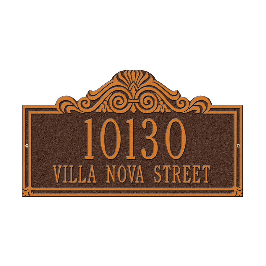 Whitehall 9.5-in x 16.5-in Villa Nova Standard Wall Two Line Antique Copper Plaque