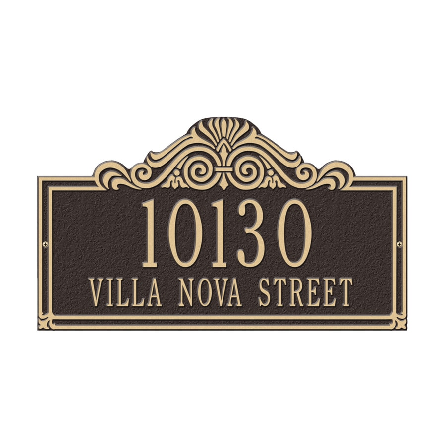 Whitehall 9.5-in x 16.5-in Villa Nova Standard Wall Two Line Bronze/Gold Plaque