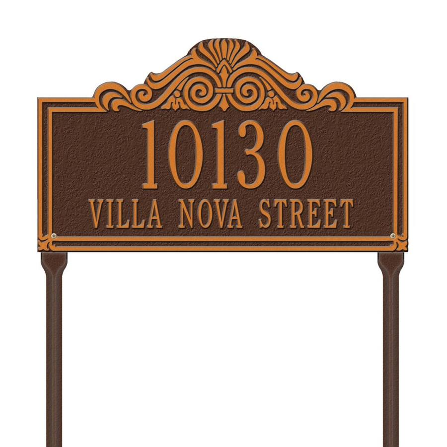 Whitehall 26.5-in x 16.5-in Villa Nova Standard Lawn Two Line Antique Copper Plaque