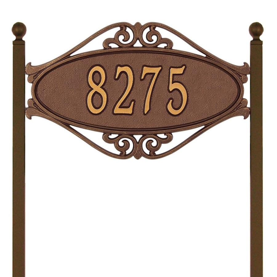 Whitehall 28-in x 17.5-in Hackley Fretwork Standard Lawn One Line Antique Copper Plaque
