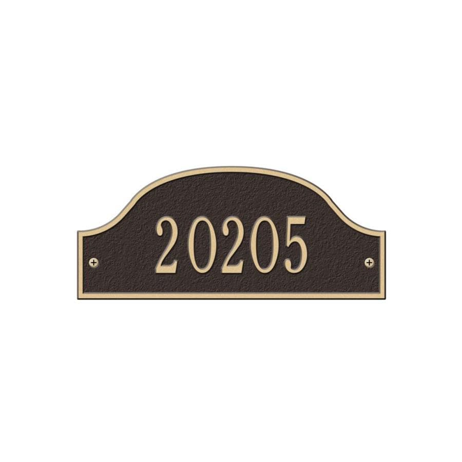Whitehall 3.5-in x 8.12-in Admiral Petite Wall One Line Bronze/Gold Plaque