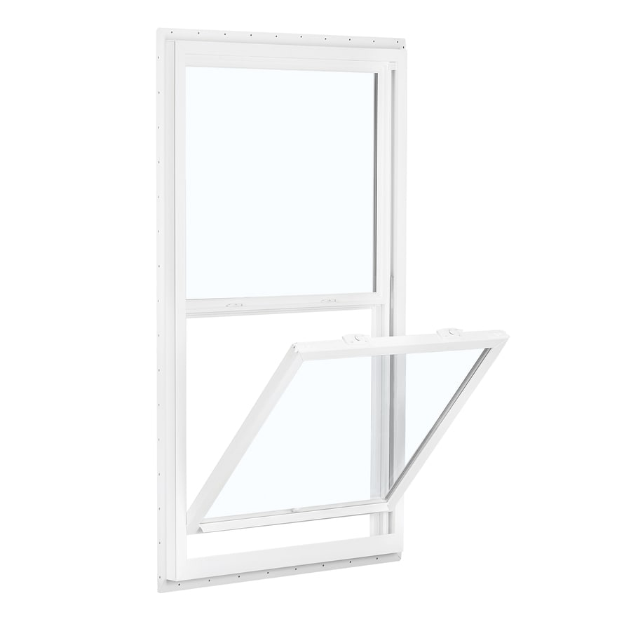 ReliaBilt 150 Series Vinyl Double Pane Single Strength for Use with Mobile Homes Single Hung Window (Rough Opening: 32-in x 62-in; Actual: 31.5-in x 61.5-in)