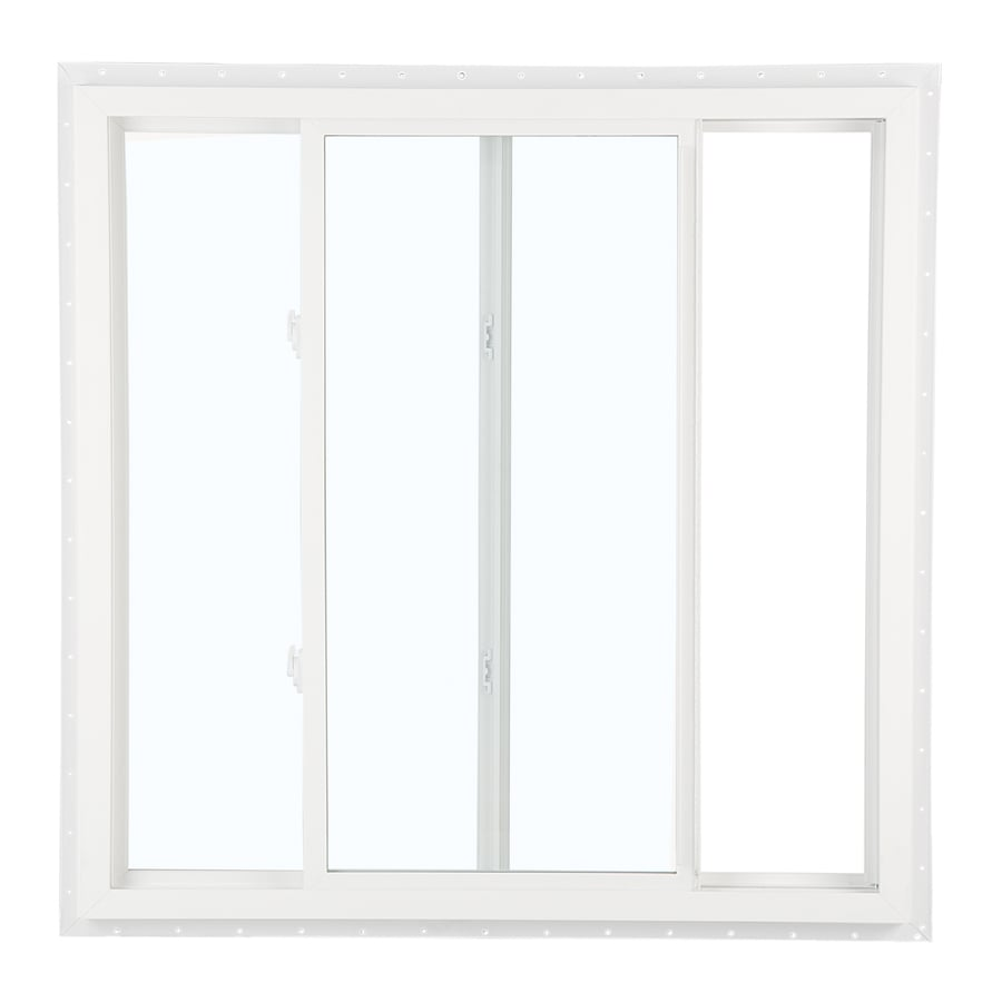 ReliaBilt 151 Left-operable Vinyl Double Pane Single Strength New Construction Sliding Window (Rough Opening: 24-in x 24-in; Actual: 23.5-in x 23.5-in)